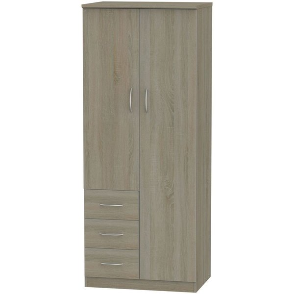 Avon Darkolino 2 Door 3 Drawer Wardrobe
