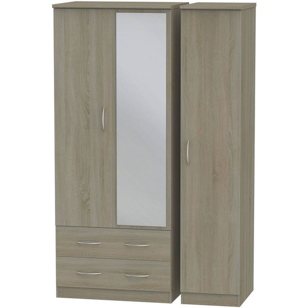 Avon Darkolino 3 Door 2 Drawer Combi Wardrobe