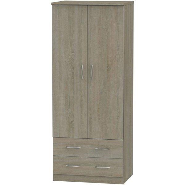 Avon Darkolino 2 Door 2 Drawer Wardrobe