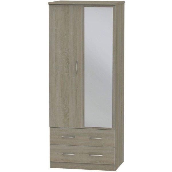 Avon Darkolino 2 Door Mirror Combi Wardrobe