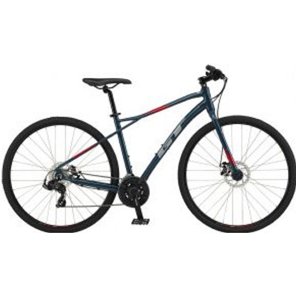 GT Transeo Sport Bike 2020 - Slate Blue - Red