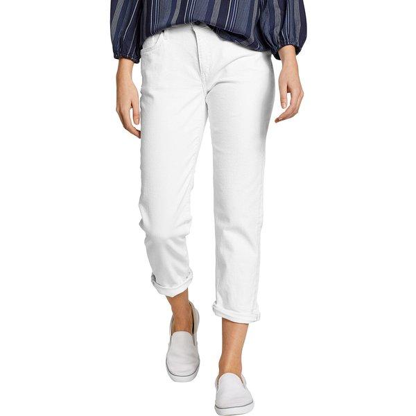 Artikel klicken und genauer betrachten! - Boyfriend Jeans - 7/8-Länge Damen Weiß Gr. 6 Die perfekte Sommerjeans aus atmungsaktiver Baumwolle. Im klassischen 5-Pocket-Stil geschnitten. | im Online Shop kaufen
