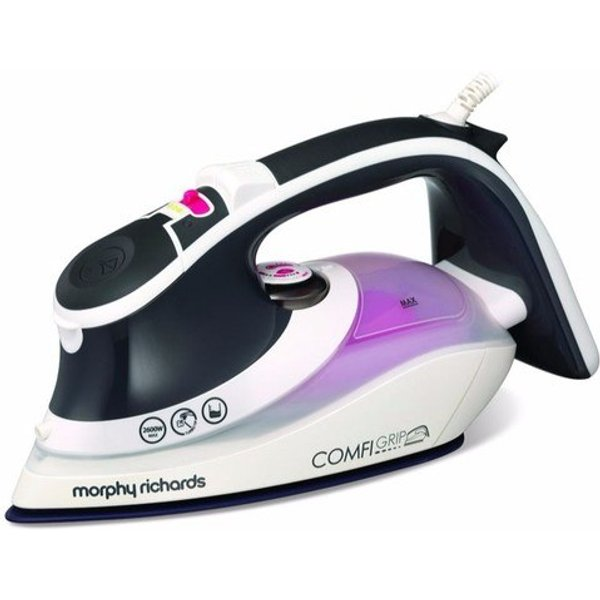 13. Morphy Richards Purple Comfigrip 2600W Steam Clothes Ionic Iron: £32.95, Electrical Europe