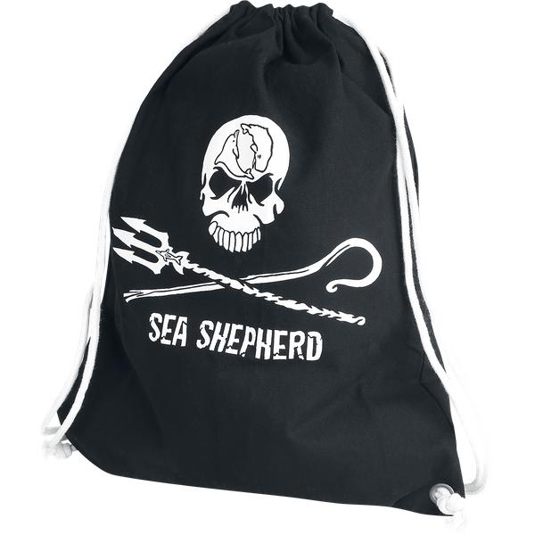 Sea Shepherd - Jolly Roger - Gym Bag - black (SEA357)