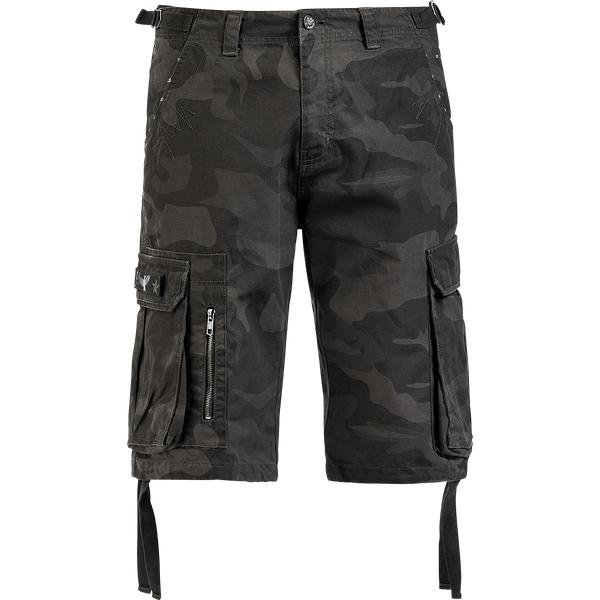 Black Premium by EMP - Army Vintage Shorts - Vintage shorts - dark camo