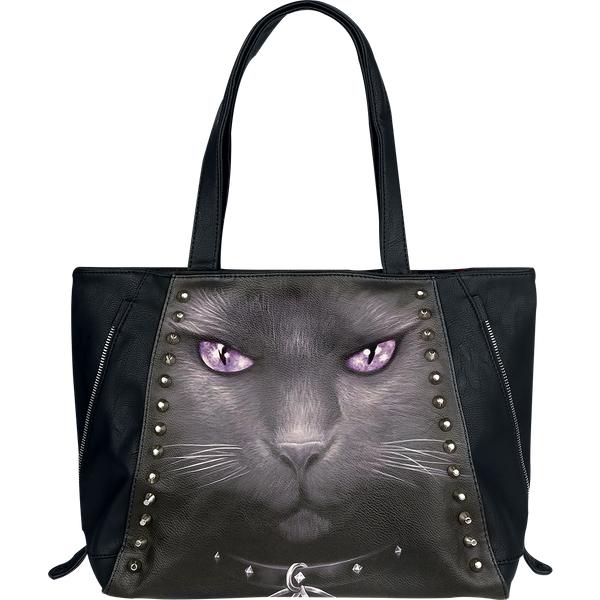 Spiral Black Cat Handtasche schwarz (D008A306)