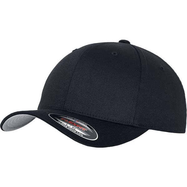 Flexfit - Wooly Combed - Flexcap - black