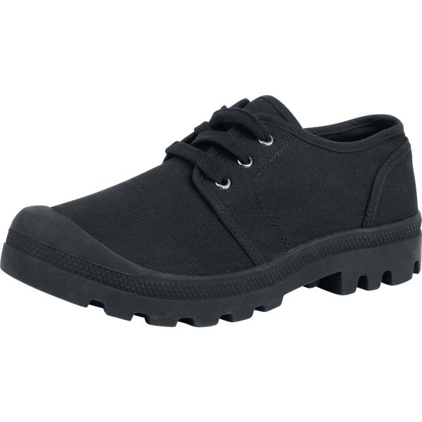 Brandit - Military Canvasboot Low - Boots - black-black