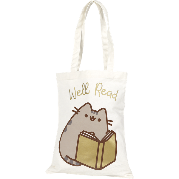 Pusheen - Well Read - Canvas Bag - beige/gold