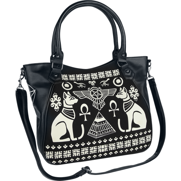 Banned - Anubis - Handbag - black-white (BG7187)
