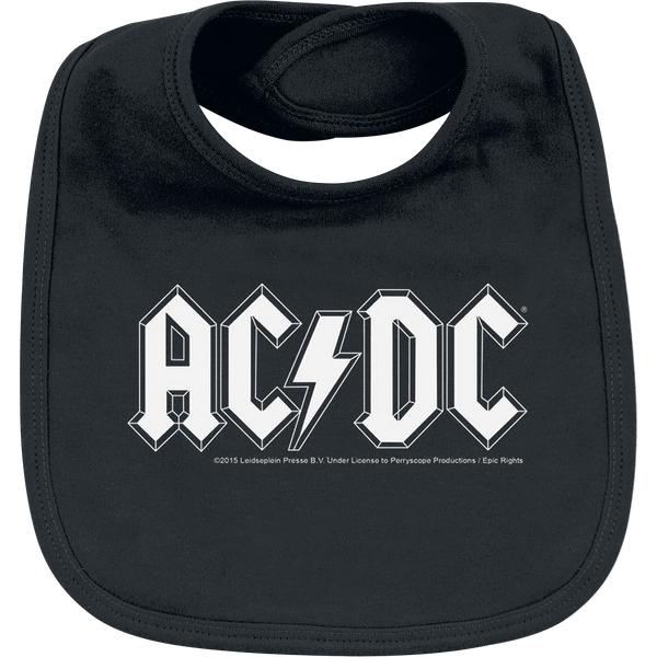 AC/DC - Logo - Baby Bib - black