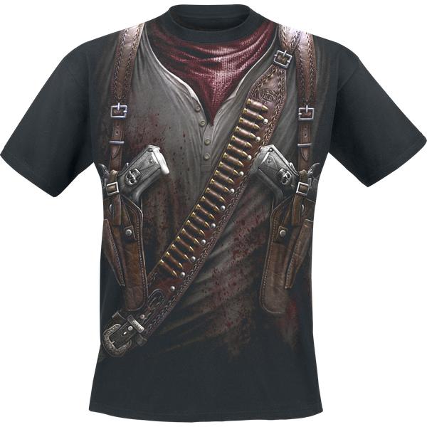 Spiral Holster Wrap T-shirt noir (W022M105-3)