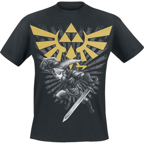 Men The Legend of Zelda noir et or Lien T-shirt: XX Large