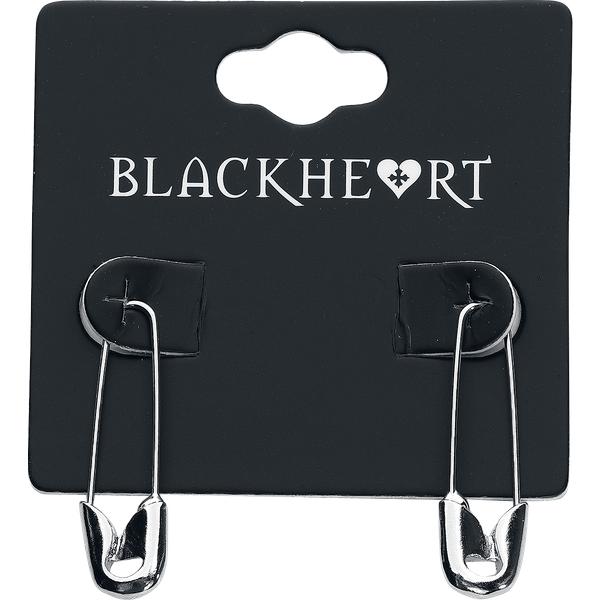 Blackheart - Safety Pin - Earring set - silver-coloured