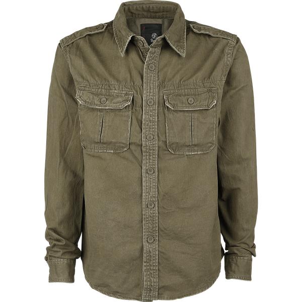 Brandit - Vintage Shirt longsleeve olive 7XL