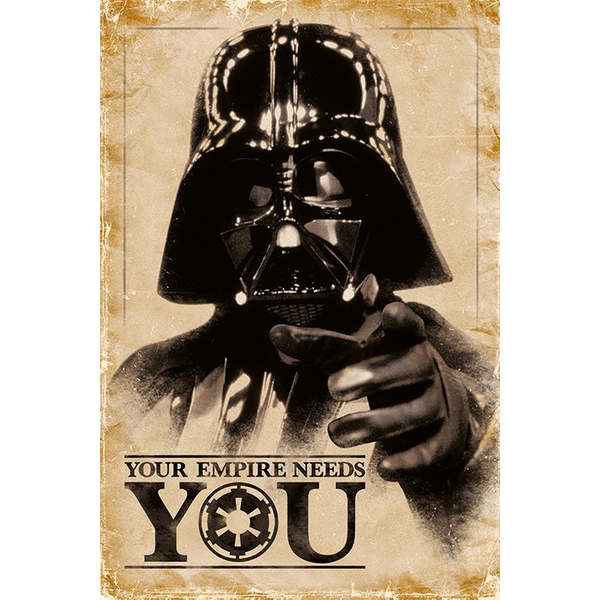 Star Wars Your Empire Needs You Poster Mehrfarbig