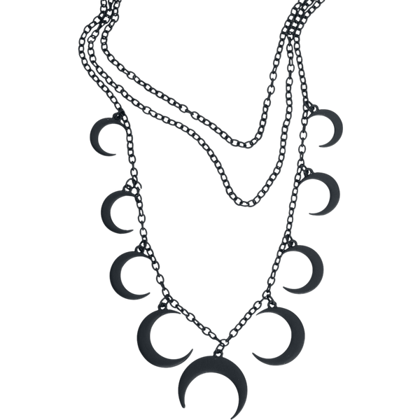 Blackheart - Moon Necklace - Necklace - black