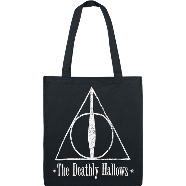 Harry Potter - The Deathly Hallows - Canvas Bag - black-white