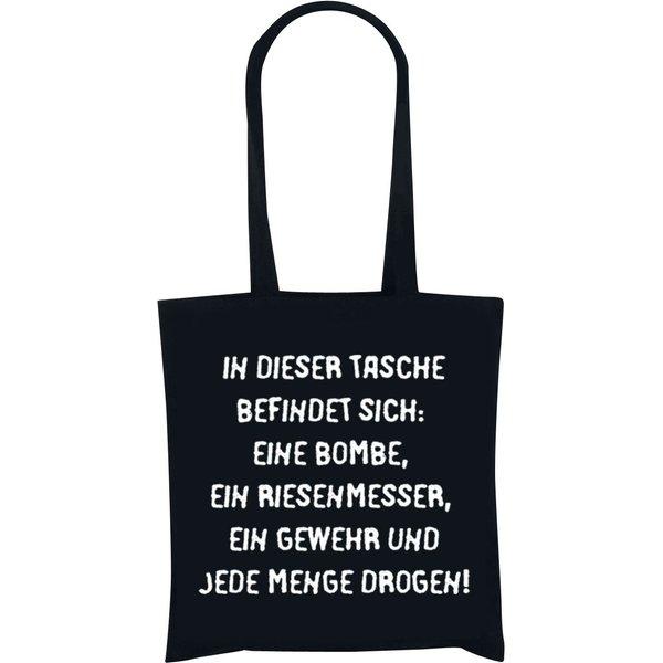 Terror-Tasche Stofftasche schwarz (90851)