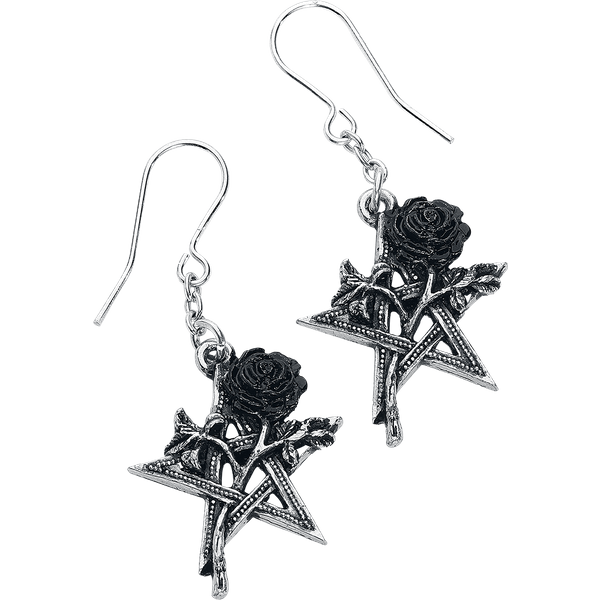 Alchemy Gothic - Ruah Vered Droppers - Earring set - black-silver colours