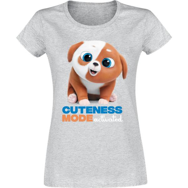 The Secret Life of Pets Cuteness Girl Shirt grau-meliert