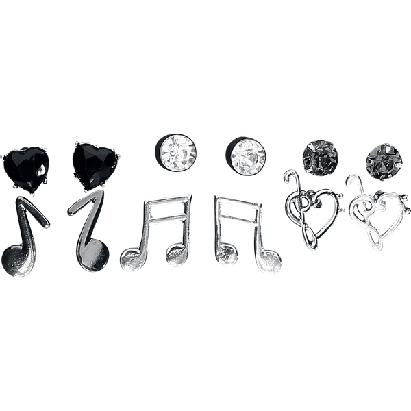 Blackheart - Clefs & Music - Earpin set - Standard