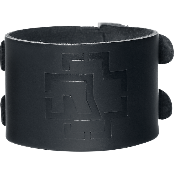 Rammstein - Rammstein Logo - Leather bracelet - black