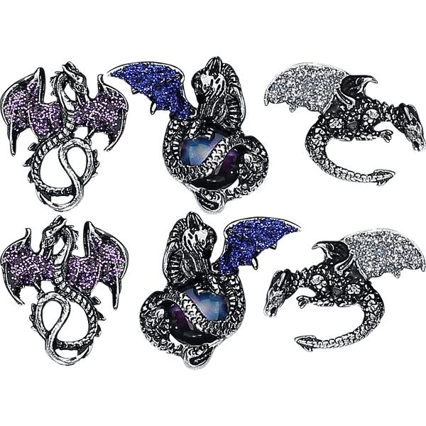Blackheart - Dragon Earrings - Earpin set - Standard