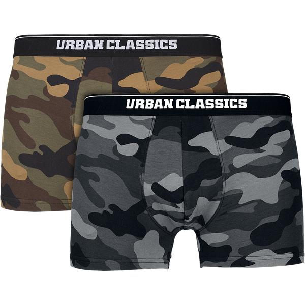 Urban Classics Camo Boxer Shorts Men 2er Pack wood camouflage