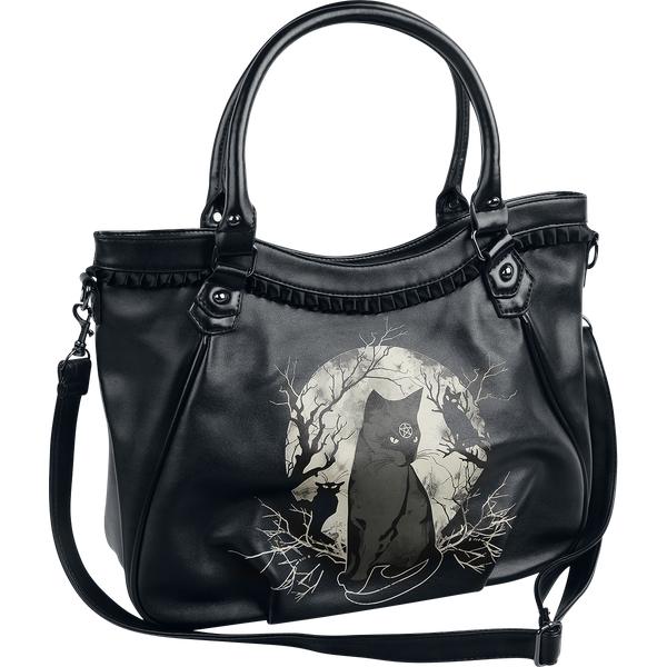 Banned - Hecate In Full Moon - Handbag - black-white