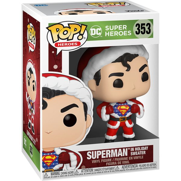 DC Comics Holiday Superman with Sweater Pop! Vinyl Figure