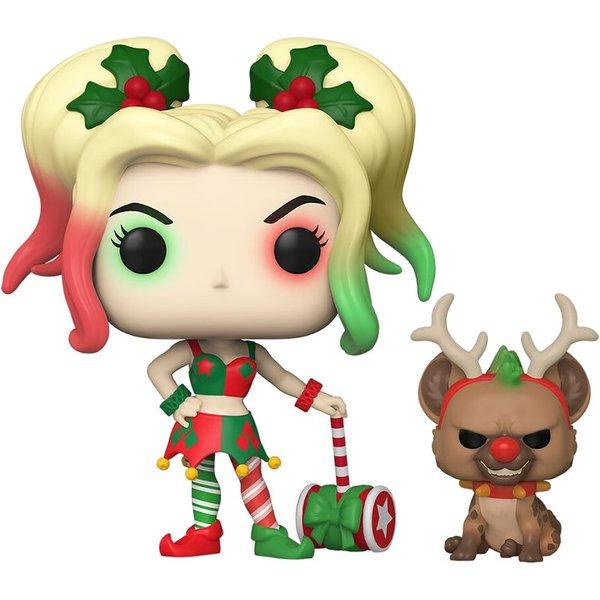 DC Comics Holiday Harley Quinn With Helper Pop! Vinyl Figure