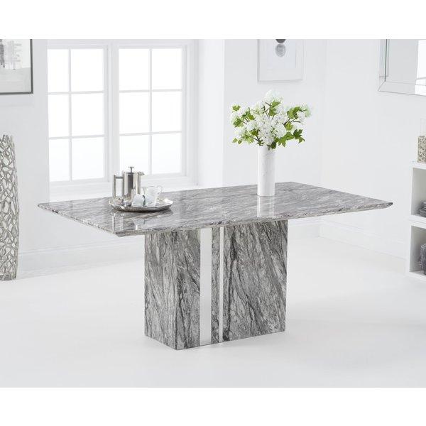 Adi 180cm Grey Marble Dining Table