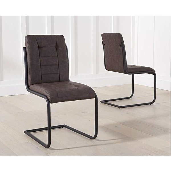 Alana Brown Faux Leather Dining Chairs