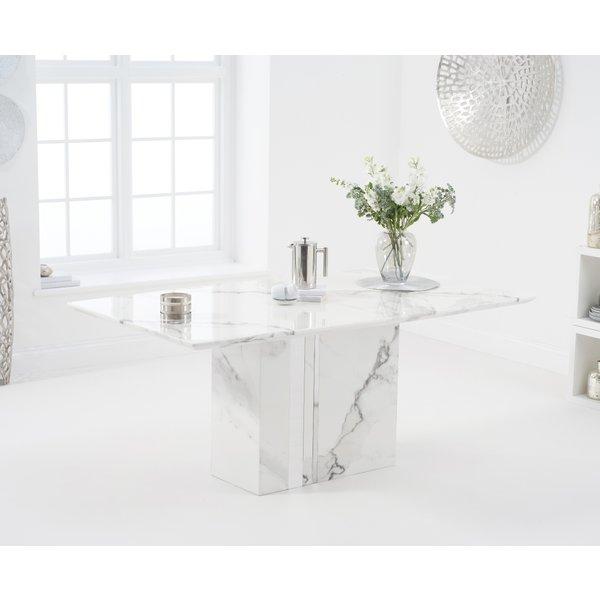 Adi 180cm White Marble Dining Table