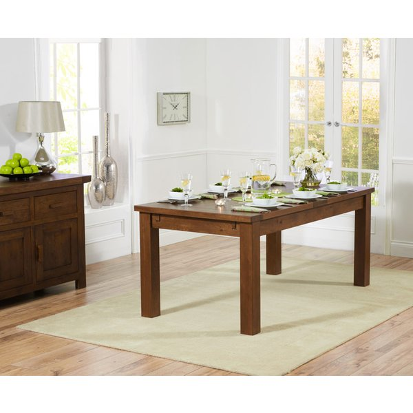 Rustique 180cm Dark Oak Extending Dining Table