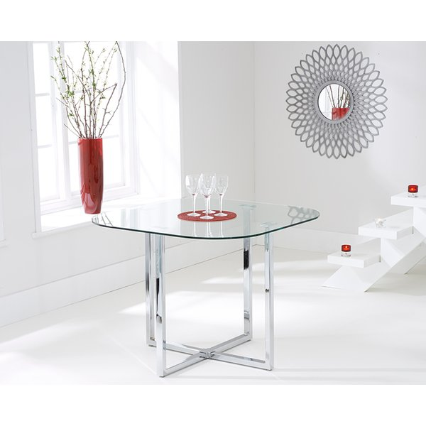 Algarve Clear Glass Dining Table