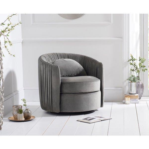 Sadie Grey Velvet Swivel Chair