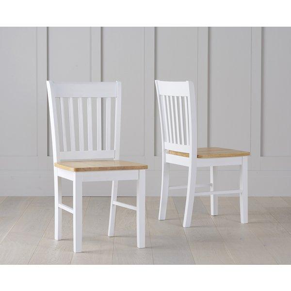 Amalfi Oak and White Dining Chairs (Pairs)