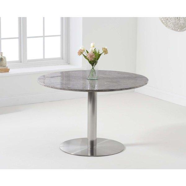 Baha 120cm Round Grey Marble Dining Table