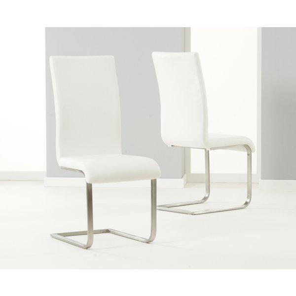 Malaga White Dining Chairs (Pairs)