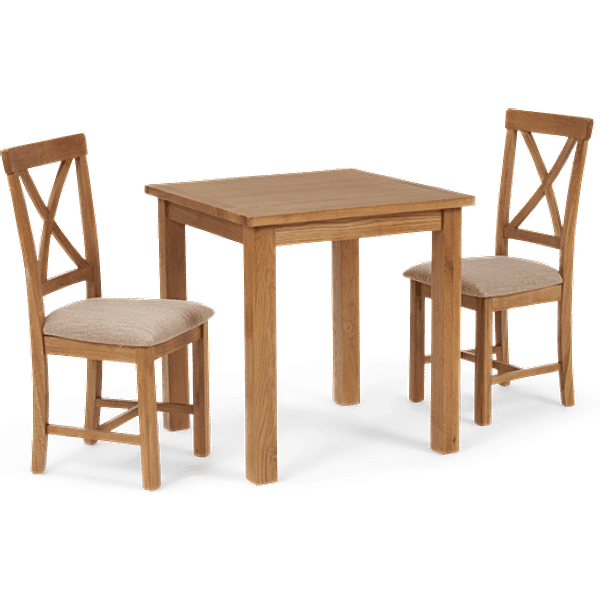 Nelly Square Dining Table with Cross Back Chairs