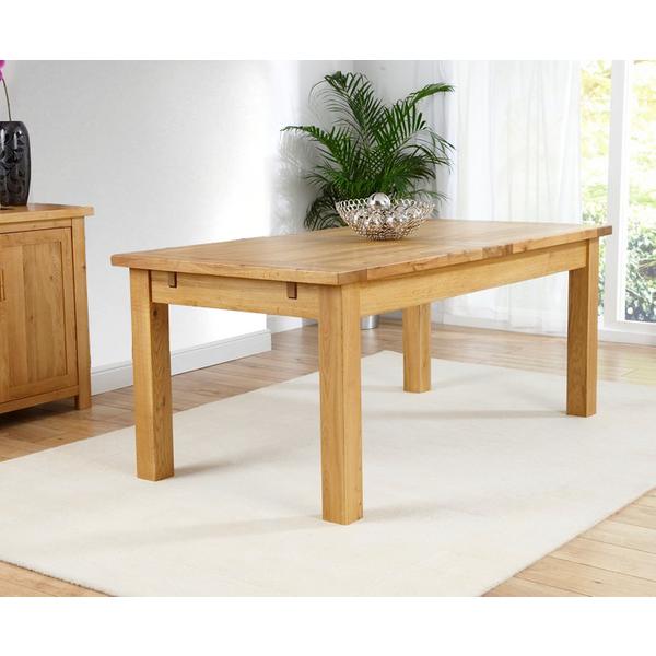 Rustique 180cm Oak Extending Dining Table