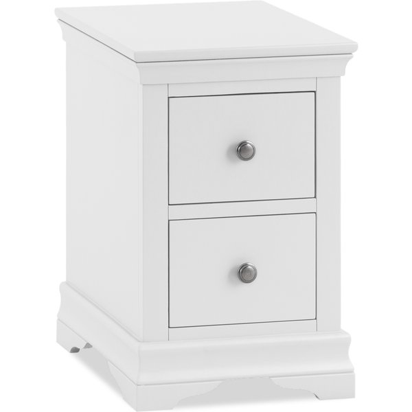 Budapest White Bedside Table