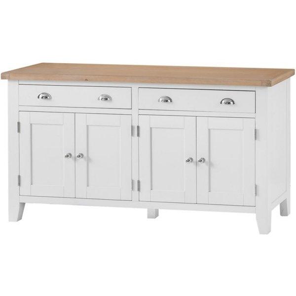 Ellen 4 Door 2 Drawer Oak and White Sideboard