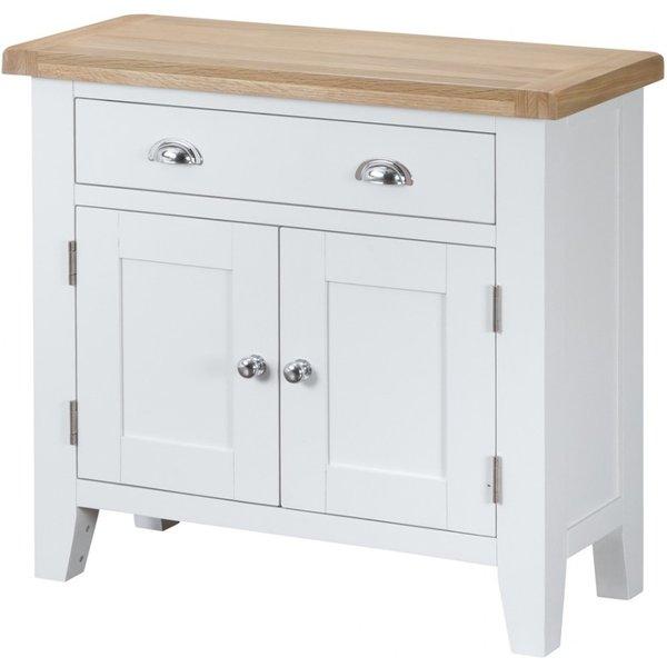 Ellen 2 Door 1 Drawer Oak and White Sideboard