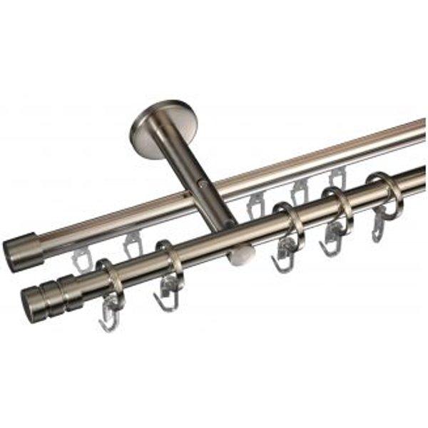 Gardinenstange Zylinder mit Rille 16 mm Stilgarnitur Innenlauf - Gardinenstange Zylinder mit Rille 16 mm Stilgarnitur Innenlauf