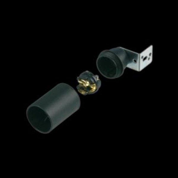 Fassung E 14 Ausführung:ISO glatt schwarz mit Winkelbefestigung