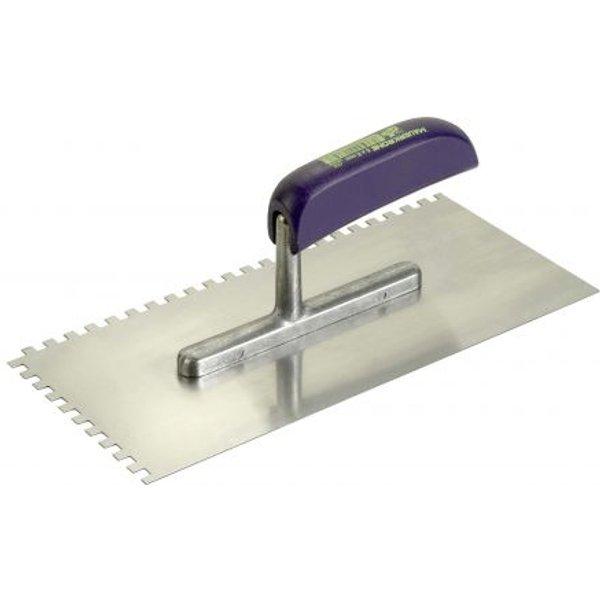 Zahnglättekelle Ausführung:Stahl Zahnung:10 x 10mm