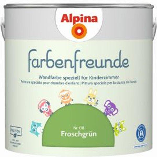 ALPINA Wand- und Deckenfarbe »Farbenfreunde«, Froschgrün 2,5 l